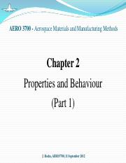 Chapter 2 - Properties and Behaviour (part 1)