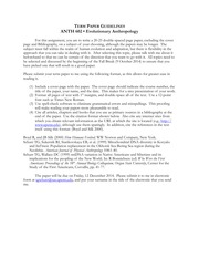 anth 338 research paper