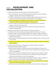 Chapter 5 Development and Socialization.docx