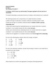 Research Methods- exercise 7 statistics