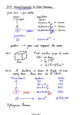Exponent Word Problems Notes
