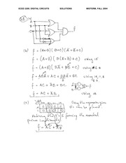 ECE 2200 Fall 2004 Midterm Exam Solutions