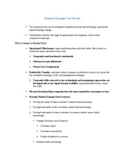 Business Strategies Test Review Articles