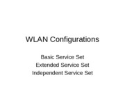 WLAN Configurations