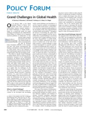 Grand challenges in global health