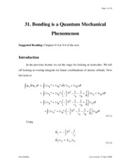 pchemII.lecture31.Bonding_is_QM