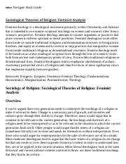 Sociological Theories of Religion_ Feminist Analysis Research Paper Starter - eNotes.pdf