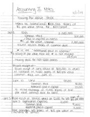 Notes - Issuing Par Value Stock
