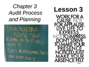 Chap03 Audit Process & Planning - Lesson 3
