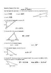 Chapter 8 Pre-Test 2014 Answer Key
