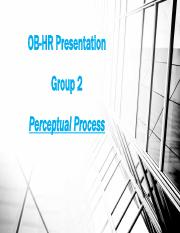 Group 2_Perceptual Process_OBHR