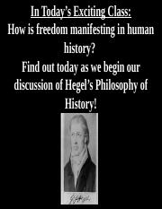 February 3rd G.W.F. Hegel, Introduction to the Philosophy of History.ppt