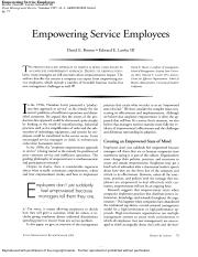 Empowering service employees