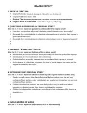 Reading Report Template-10 the one the many.docx