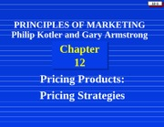 Ch12 Pricing Strategies