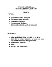 FINAL EXAM REVIEW_SYA4300