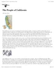 "The People of California â€"" North American Indians"