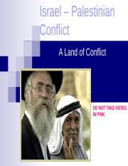Israel  Palestinian Conflict.ppt