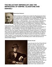 The Reluctant Imperialist and the Impressario of Empire_ Gladstone and Disraeli - HIST-2229-W01 - Ri