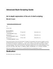 Advanced Bash Scripting Guide