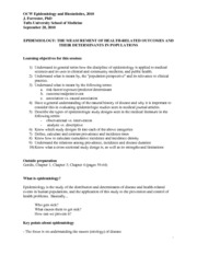 Epidemiology and Biostatistics Lecture Notes  4