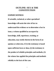 OUTLINE 2 SEX AND CONSTITUTION