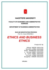 Ethics and Business Ethics