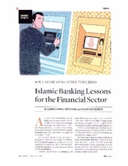 Islamic Banking Lessons for the Financial Sector-1