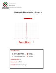 Mathematical Investigation(Final)
