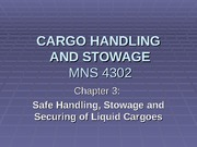 Safe Handling, Stowage and Securing of Liquid Cargoes intro