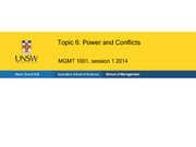 Topic 6 Power and Conflicts LG 2014