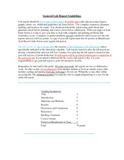 Bacteria Lab Report Guidelines