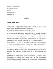 excalibur summary