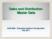 EGN_5620_Enterprise_Sys_SD Master Data Fall 2011 Regular final