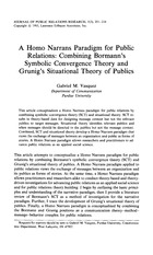 A Homo Narrans Paradigm for Public Relations - Combining Bormann's Symbolic Convergance