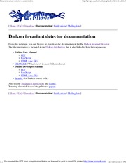 Daikon invariant detector documentation
