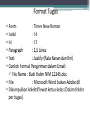 Journal Review Format Tugas Fonts Times New Roman Judul 14 Isi 12