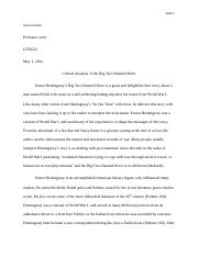 essay2_Big Two-Hearted River-Critcal analysis.docx