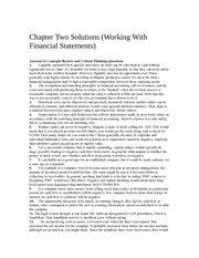 Chapter Two Solutions