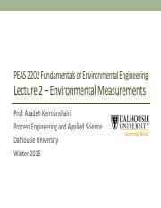 Lecture 2 - Environmental Measurements(1)