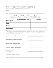 BenzocaineWorksheet