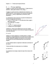 Vectors and Projectiles notes