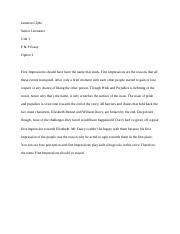 Pride and Prejudice Essay