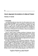 How to approach the isolation of a natural product