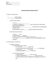 Copy of Communication Notes Part 2