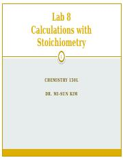 Calculations with Stoichiometry-Lecture
