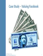 Valuing Facebook