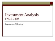 Investment_Valuation