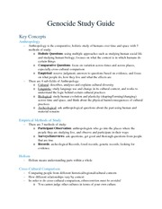 Genocide Study Guide
