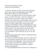 Ford Annual Report 2013